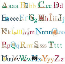 alphabet letters wall stickers 73