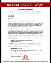lease agreement sample lease agreement template make your rental agreement rocket lawyer