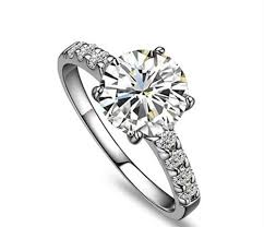 1 Carat Diamond Ring Designs Us 262 65 15 Off 1 Carat Pure Gold 18k Four Prongs Indigenous Lovely Diamond Women Engagement Ring Lovely Design Style High Quality Guarantee In