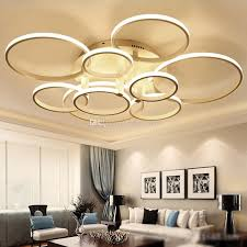 unique circle chandelier light modern acrylic ring led circle chandelier lamp pendant light