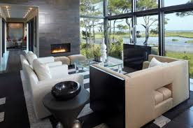 Contemporary home office angela todd Homegram View In Gallery Linear Fireplace Enclosed In Glass Ideal For Contemporary Setting Maine Home Design 34 Modern Fireplace Designs With Glass For The Contemporary Home