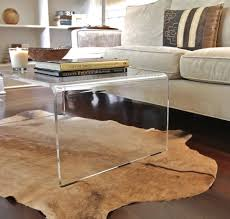 ... Coffee Table, Beautiful Clear Rectangle Minimalist Glass Acrylic Coffee  Table IKEA Design To Decorating Living ...