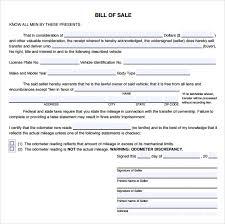 Sample Bill Of Sale For Car Pdf Sample Used Car Bill Of Sale 8 Documents In Pdf