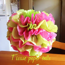 How To Make Fluffy Decoration Balls Tissue Paper Balls Baby Shower On A Budget Mini Series YouTube 56