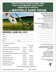 Ymca Golf Outing Flyer Geauga News