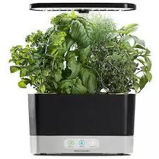miraclegro aerogarden harvest with gourmet herbs seed 6 pod kit black