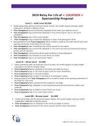 Letter Sponsorship Gorgeous Sponsorship Proposal Letter Template Beadesignerco