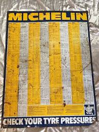 Michelin Tire Pressure Chart For Cars Original Old Vintage Michelin Metal Rusted Sign Car Garage Tyre Pressure Chart In Chester Cheshire Gumtree