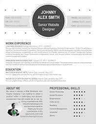 Resume: Modern Resume Style