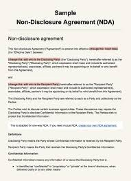 Nda Non Compete Template Non Compete Agreement Texas Template Doc Gallery Sample