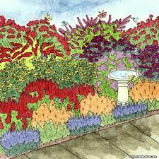 hummingbird garden. Interesting Garden Butterfly And Hummingbird PrePlanned Garden With R