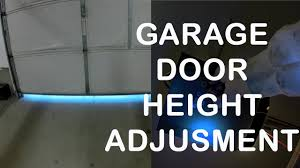 garage door travel limit adjustment