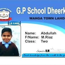 Identification Card Samples Id Card Template Student Cards For Company Identity Sample