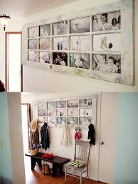 wooden photoframe decoration on the wall s diyprojects com
