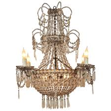 19th century seven light crystal chandelier