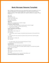Resume Samples For Banking Jobs 60 bank job cv format credit letter sample 16