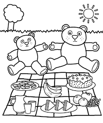 Small Picture Teddy Bears Picnic Coloring Page NetArt