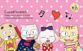 cartoon bread wallpaper. Modren Wallpaper Cartoon Cat Wallpaper 5 Cloud Bread Clouds  1280x800 With Cartoon Bread Wallpaper