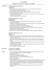 Warehouse Associate Resume Sample Senior Warehouse Resume Samples Velvet Jobs 17
