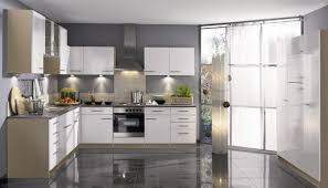 add a modern edge with a glossy kitchen