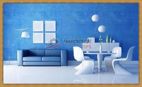 creative wall painting ideas for living room blue wall colors
