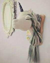 unicorn wall mount unicorn head wall decor awesome plush unicorn wall mount faux taxidermy animal head