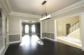 dining rooms with chair rails two tone wall with chair rail and dark hardwood dining room dining rooms with chair rails