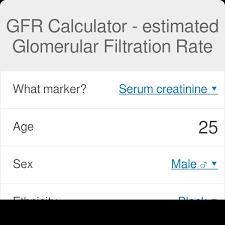 Creatinine Chart By Age Gfr Calculator Estimated Glomerular Filtration Rate Omni