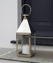 tall stainless steel garden candle lantern small topsham lantern