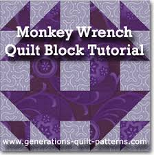 Monkey Wrench Quilt Block Pattern: Illustrated Step-by-Step ... & A tutorial for making this Monkey Wrench quilt block pattern variation Adamdwight.com