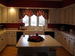 No Backsplash In Kitchen Before Kitchen No Backsplash Just Red Walls White Cabinets