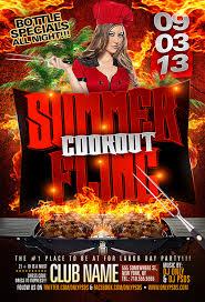 Summer Fling Cookout Flyer Template
