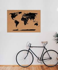 ... QSUBER Handmade Corkboard World Maps Pin Your Travels  Cork Board  World Travel Map ...