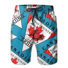 Amazon Com Canadian Flag Cross Country Skiing Men Swim