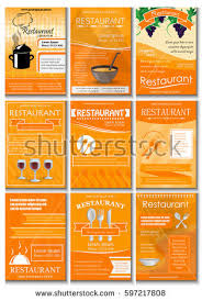 Restaurant Colored Advertising Poster Modern Style Vector Stock ...