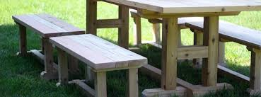 diy how to build an h leg table bench