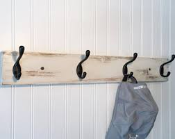 White Coat Hook Rack Rustic coat rack with 100 coat hooks wall coat rack entryway 67
