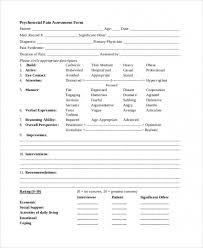 Psychosocial Assessment Template Simple Download 44 Sample Psychosocial Assessment Forms Top Template
