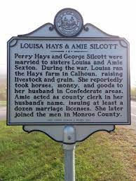Perry Hays and George Silcott/Louisa Hays and Amie Silcott Highway  Historical Marker