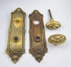 antique brass door handles. ANTIQUE-SET-OF-ST-JULIAN-900-BRASS-DOOR- Antique Brass Door Handles R