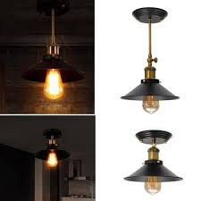 retro industrial e27 wall sconce light vintage hang pendant ceiling lamp 1 cod