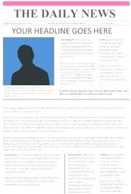 Newspaper Article Summary Template Newspaper Article Assignment Template
