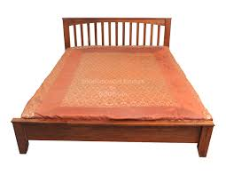 Sheesham Bedroom Furniture Vertical Strips Design Sheesham Wood Bed