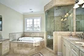 bathroom paint ideas with beige tile combines light tan walls natural stone tiles mosaic subway b
