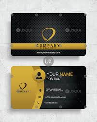 Card Design Template Premium Luxury Business Card Design Template Vector With Black Yellow Color Uxoui