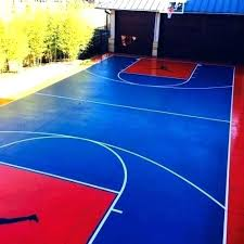 basketball court paint outdoor marking concrete line painting