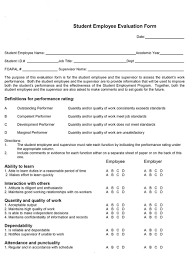 46 Employee Evaluation Forms Performance Review Examples