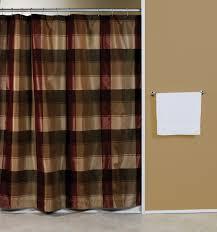 Maroon Bathroom Accessories Plaid Blue Or Burgundy Fabric Shower Curtain Curtain Bath Outlet
