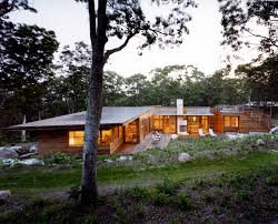 flat roof homes Exterior Contemporary with cabin chaise longue chaise.  Image by: Charles Rose Architects Inc