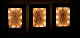 lighting frames. fairy lamps lighting frames glowing paintings e